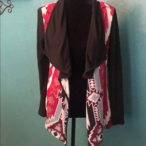 Aztec print cardigan great condition